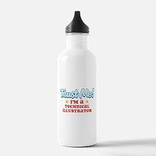 Trust Me Technical Illustrato Water Bottle