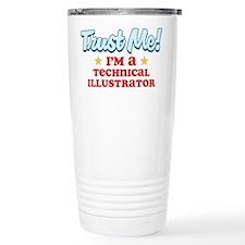 Trust Me Technical Illustrato Travel Mug