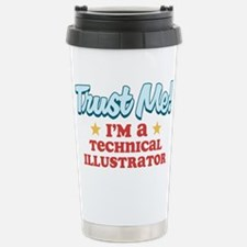 Trust Me Technical Illustrato Travel Mug