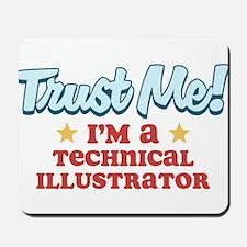 Trust Me Technical Illustrato Mousepad
