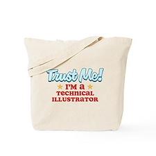 Trust Me Technical Illustrato Tote Bag