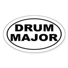Drum Major Band Music Sticker (Oval)