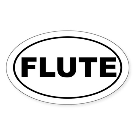 Flute Music Sticker (Oval)