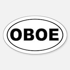 Oboe Music Sticker (Oval)