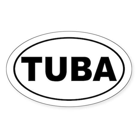 Tuba Music Sticker (Oval)