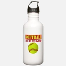 Girls Softball Water Bottle