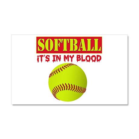 Girls Softball Car Magnet 12 x 20