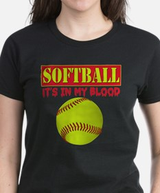 Girls Softball Tee
