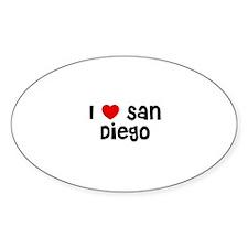 I * San Diego Oval Decal