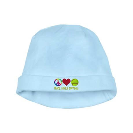 Girls Softball baby hat