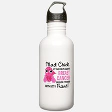 Mad Chick 2 Breast Cancer Water Bottle