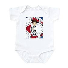 Cute Soccer Boy Infant Bodysuit