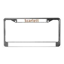 Scarlett Fiesta License Plate Frame