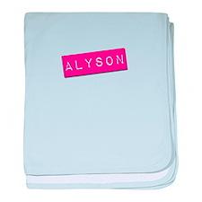 Alyson Punchtape baby blanket