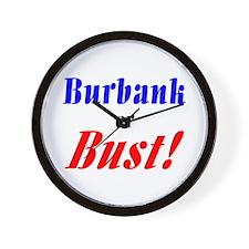 Burbank or Bust! Wall Clock