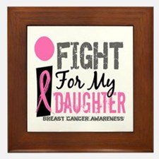 Fight For My Breast Cancer Framed Tile