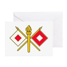 Signal Branch Insignia Greeting Cards (Pk of 10)