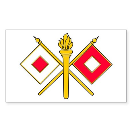 Signal Branch Insignia Sticker (Rectangle)