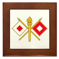 Signal Branch Insignia Framed Tile