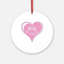 35th Wedding Anniversary Ornament (Round)