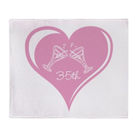 35th Wedding Anniversary Throw Blanket