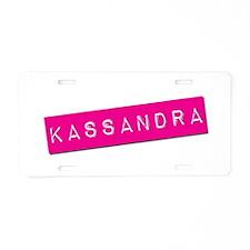 Kassandra Punchtape Aluminum License Plate