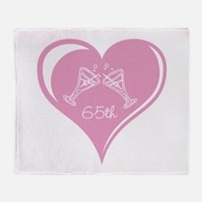 65th Wedding Anniversary Throw Blanket