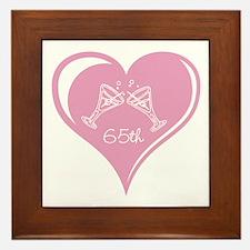 65th Wedding Anniversary Framed Tile