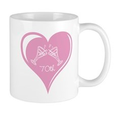 70th Wedding Anniversary Small Mugs