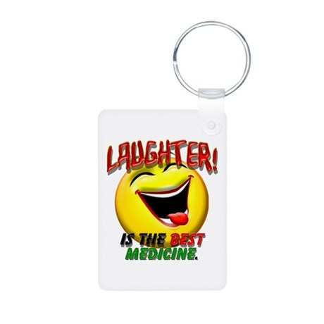 Laughter is the Best Medicine Aluminum Photo Keych