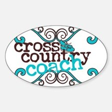 Cross Country Coach Sticker (Oval)
