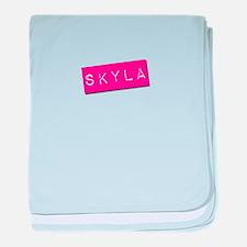 Skyla Punchtape baby blanket