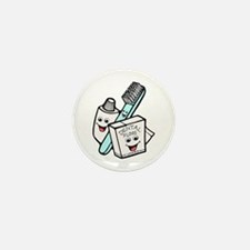 Funny Dentist Dental Hygienist Mini Button (10 pac
