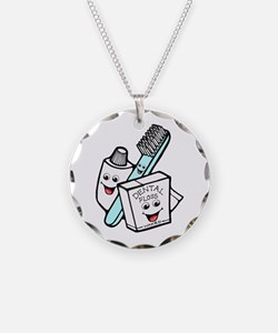 Funny Dentist Dental Hygienist Necklace Circle Cha