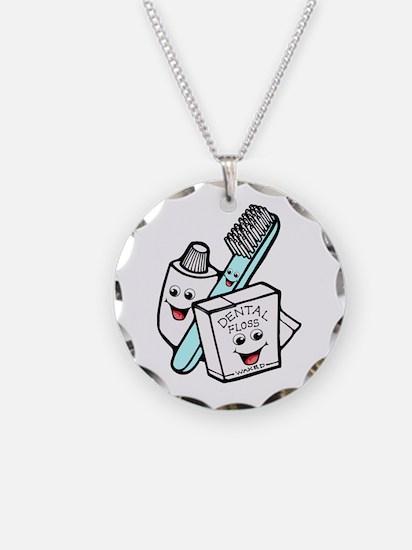 Funny Dentist Dental Hygienist Necklace Circle Cha