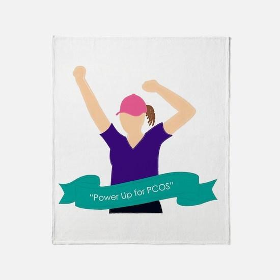 Cute Pcos Throw Blanket