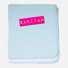 Saniyah Punchtape baby blanket