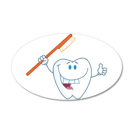 Funny Dentist Dental Hygienist 38.5 x 24.5 Oval Wa