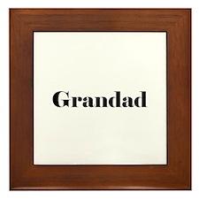 Grandad Framed Tile