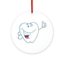 Funny Dentist Dental Hygienist Ornament (Round)