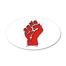 Raised Fist 22x14 Oval Wall Peel