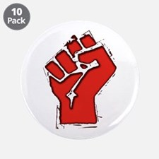 """Raised Fist 3.5"""" Button (10 pack)"""