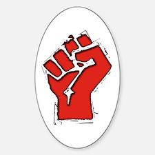 Raised Fist Sticker (Oval)