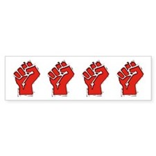 Raised Fist Car Sticker