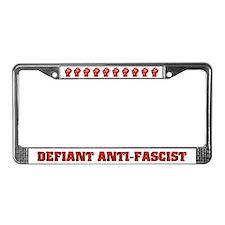 Raised Fist License Plate Frame