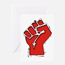 Raised Fist Greeting Card