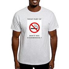 No Smoking Ash Grey T-Shirt