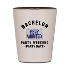 Bachelor Party (Enter Date) Shot Glass