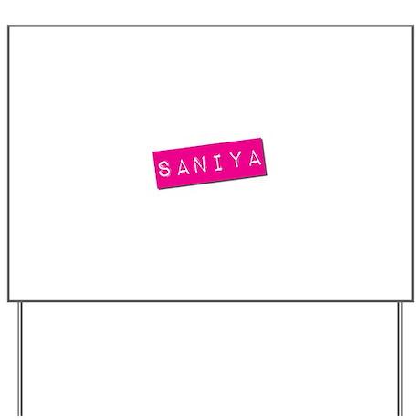 Saniya Punchtape Yard Sign