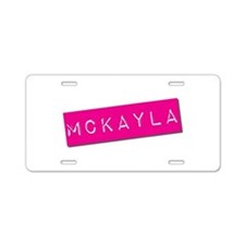 Mckayla Punchtape Aluminum License Plate